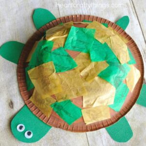 This paper bowl turtle craft for kids is adorable and simple for kids to make. It works great for a fun summer kids craft.