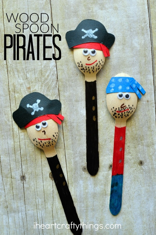 Awesome pirate craft for kids i heart crafty things for Wood crafts for kids