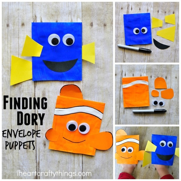Finding Dory Craft Envelope Puppets I Heart Crafty Things