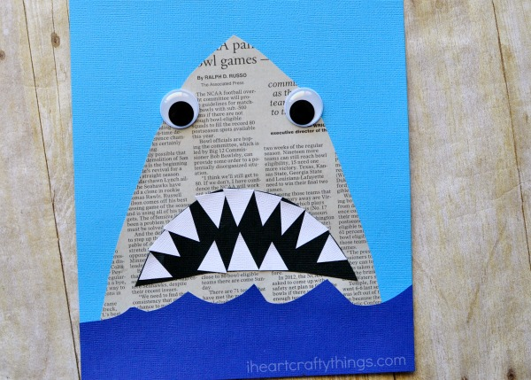 newspaper-shark-craft-3