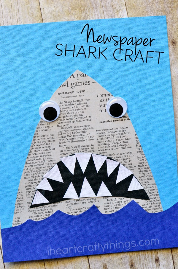 Newspaper shark craft i heart crafty things for What craft should i do