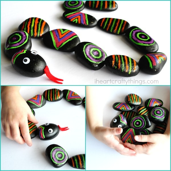 patterned-rocks-snake-craft-3