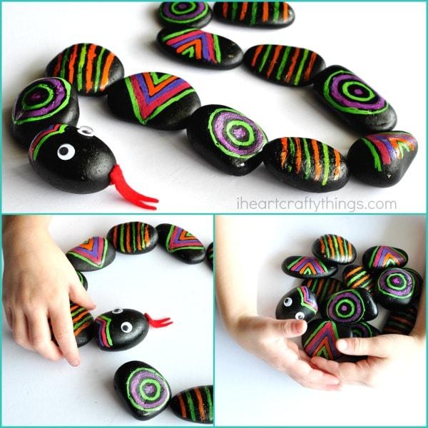 patterned-rocks-snake-craft-3