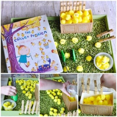 100 Chickens Preschool Counting Activity