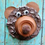 This recycled CD bear craft is a simple and fun animal craft for kids to make and it makes a great summer kids craft after seeing some bears at your local zoo.