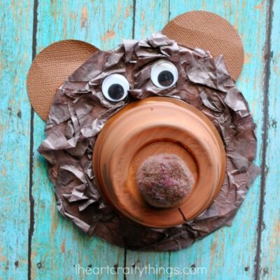 Recycled CD Bear Craft