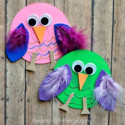 Recycled CD Owl Craft for Kids