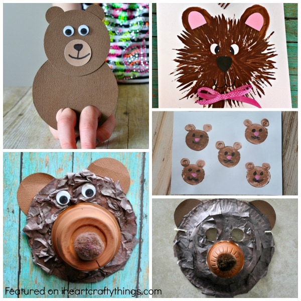 Bear Craft Paint Toddlers