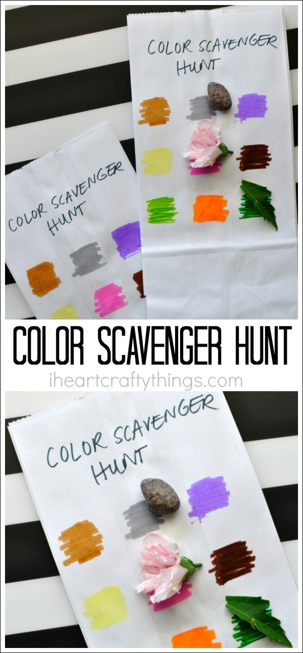 Simple Color Scavenger Hunt For Kids I Heart Crafty Things