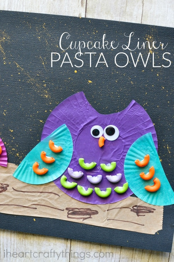 cupcake-liner-pasta-owl-craft