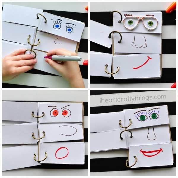 html flip book template - diy funny face flip book i heart crafty things