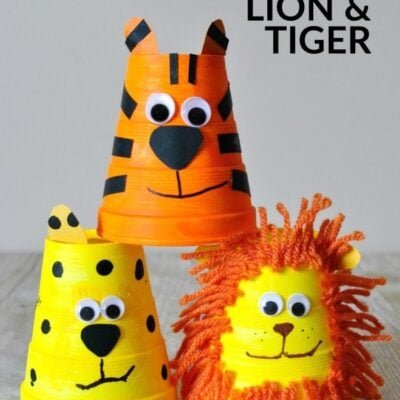 Adorable Foam Cup Tiger Craft
