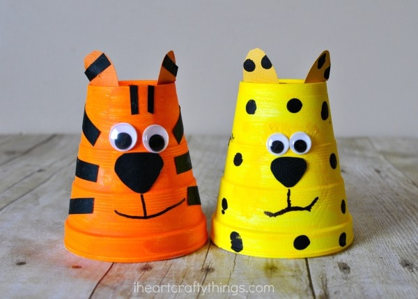 foam-cup-cheetah-tiger-craft