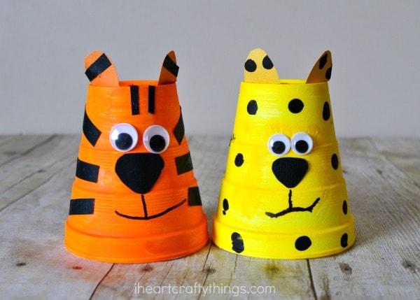 foam-cup-cheetah-tiger-craft