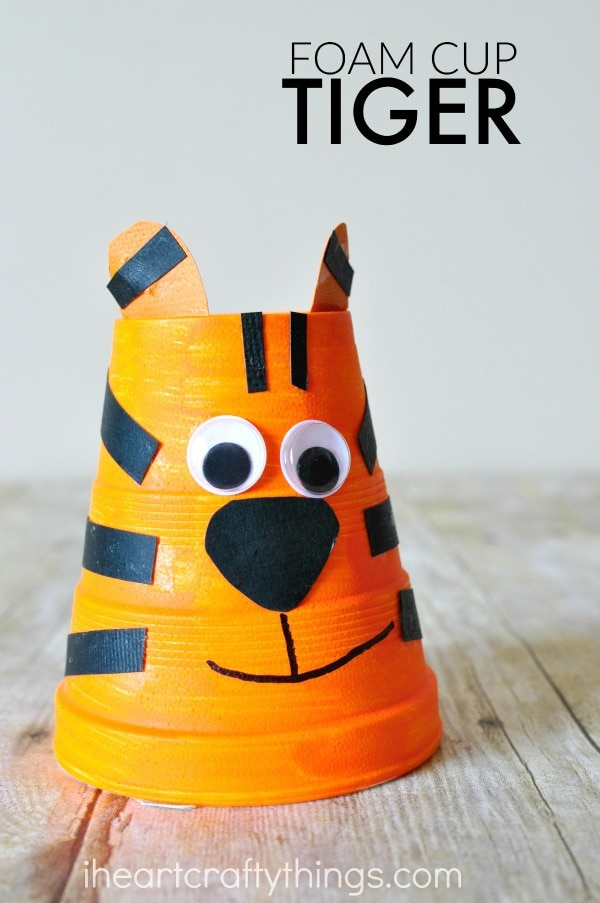 foam-cup-tiger-craft