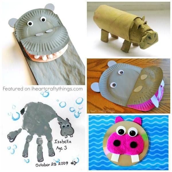 Hippopotamus Crafts Paper Bag Craft