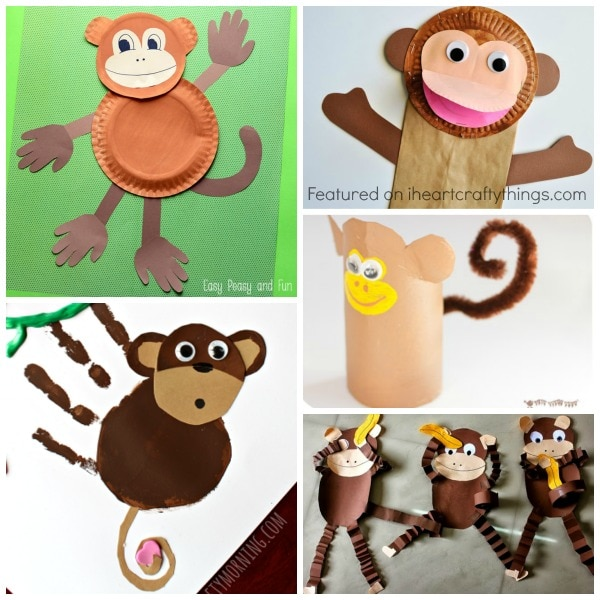 monkey-crafts  sc 1 st  I Heart Crafty Things & 50+ Zoo Animal Crafts for Kids | I Heart Crafty Things