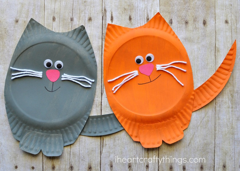 paper-plate-cat-craft-3 & Paper Plate Cat Craft | I Heart Crafty Things