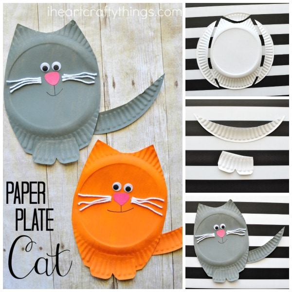 Paper Plate Cat Crafts And Activities