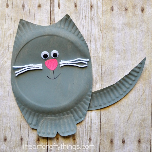 Paper Plate Cat Craft & Paper Plate Cat Craft | I Heart Crafty Things