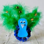 Pretty Pinecone Peacock Craft