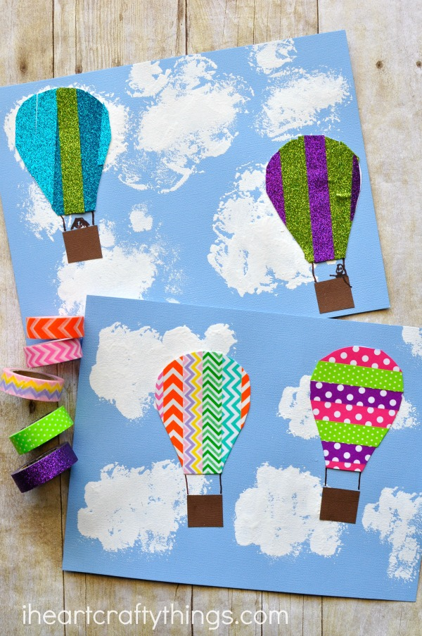 Washi Tape Hot Air Balloon Craft | I Heart Crafty Things
