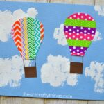 This colorful washi tape hot air balloon craft is perfect for a summer afternoon kid craft and is fun for kids of all ages. Great summer craft for kids, spring kids craft, washi tape crafts and preschool craft.