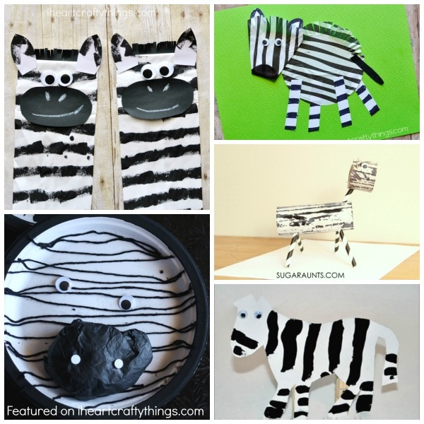 Zebra Paper Plate Craft