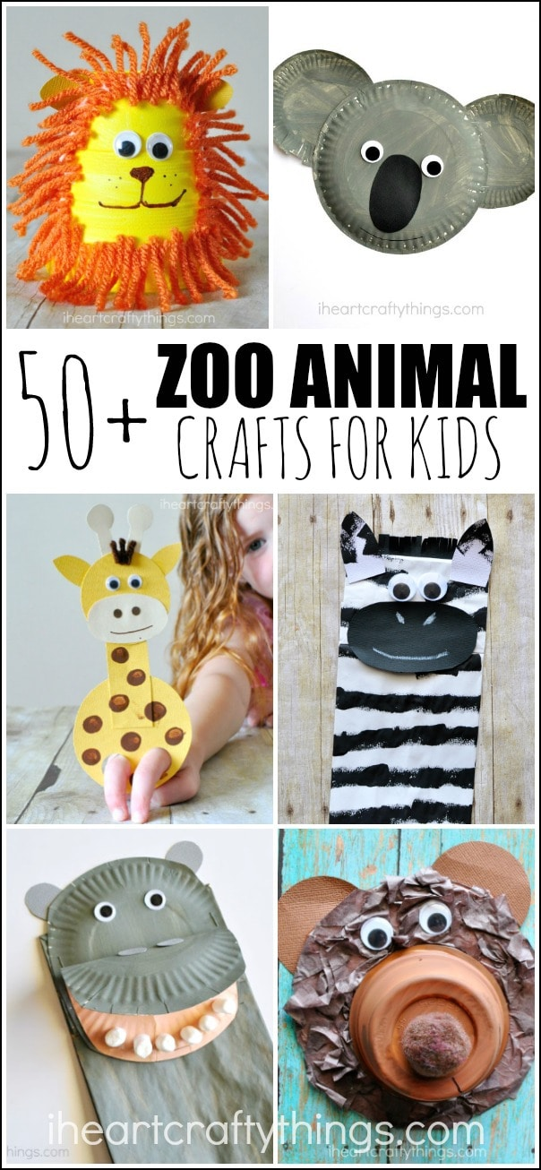 50 Zoo Animal Crafts For Kids