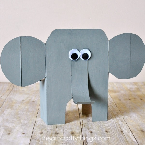 Awesome Cereal Box Elephant Craft | I Heart Crafty Things