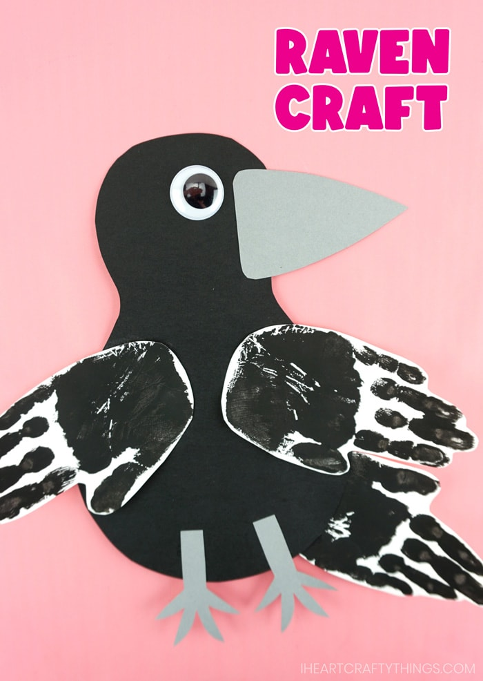 """vertical pin image of raven craft with the text """"raven craft"""" in the top right corner"""