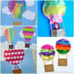 Here are 5 awesome hot air balloon crafts for kids. With such a wide array of crafting materials, you are sure to find something you love. Fun washi tape crafts, cupcake liner crafts, CD crafts for kids, crafts with bubble wrap and newspaper crafts for kids. Great spring kids craft, summer crafts for kids and preschool craft.
