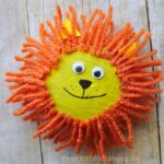 We turned rocks into an adorable pet rock lion craft. Put them on display on a shelf or dresser or use them as a paper weight on a desk. Fun summer kids craft, animal craft for kids, preschool craft and nature crafts for kids.