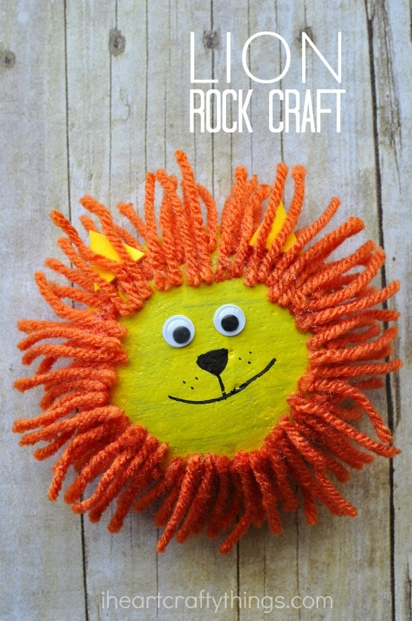 adorable pet rock lion craft i heart crafty things