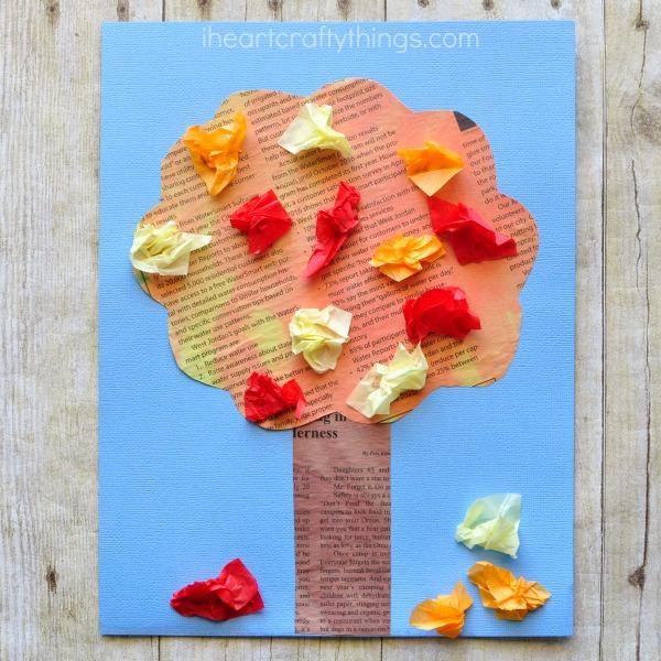 newspaper-fall-tree-craft-2