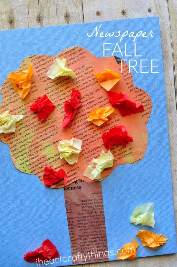 newspaper-fall-tree-craft
