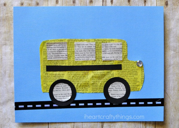 newspaper-school-bus-craft-2