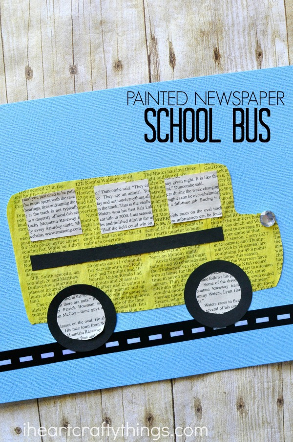 newspaper-school-bus-craft