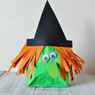 Stuffed Paper Bag Witch Craft