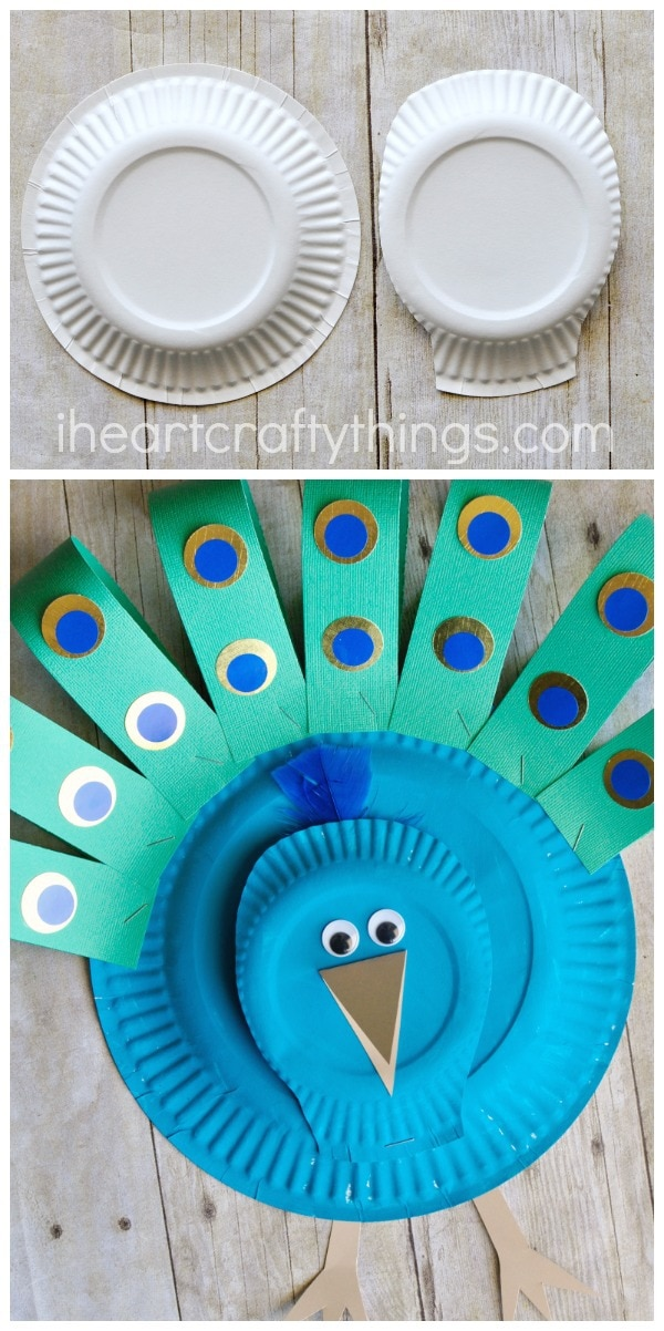 paper-plate-peacock-craft-3 & Gorgeous Paper Plate Peacock Craft | I Heart Crafty Things