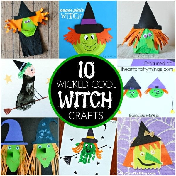 Here are 10 Wicked Cool Halloween Witch Crafts that will surely get you grinning and excited to do some Halloween crafting with your kids this year.