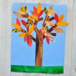 If you love finding fun ways to recycle materials into crafts you are going to love this magazine fall tree craft. It makes a beautiful fall kids craft.