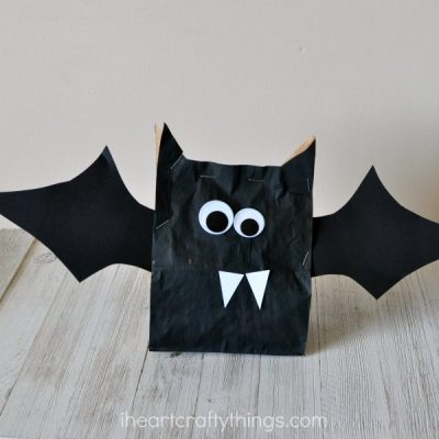 Stuffed Paper Bag Bat Craft