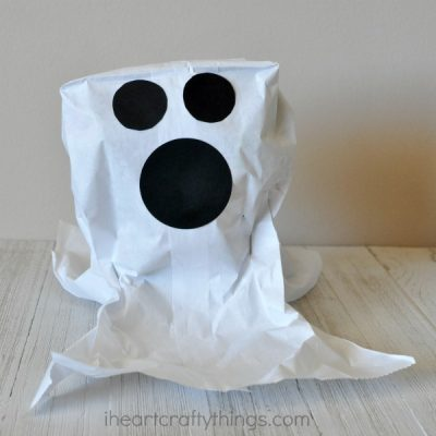Simple Paper Bag Ghost Craft