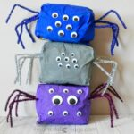 This stuffed paper bag spider craft is great as a spooky Halloween kids craft but it would also be good for any time of the year after learning about spiders or reading a spider-themed children's book.