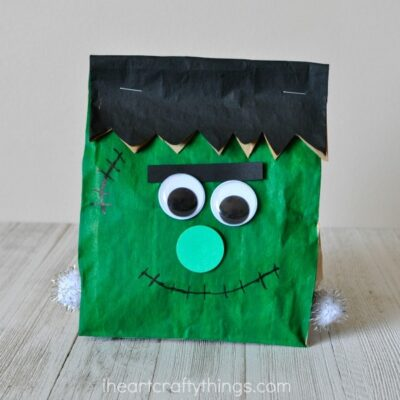 Stuffed Paper Bag Frankenstein Craft