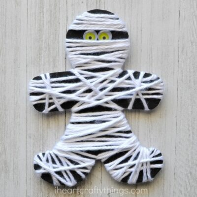 Yarn Wrapped Mummy Craft