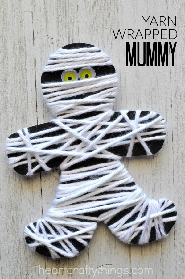 yarn-wrapped-mummy-craft