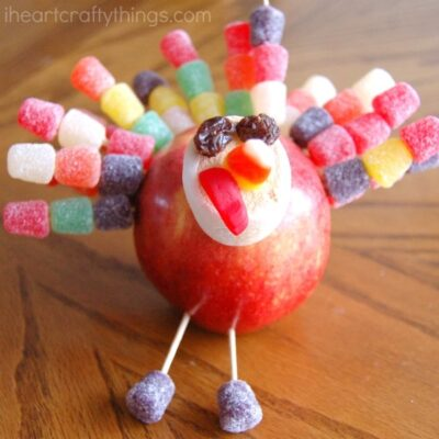 Thanksgiving Apple Turkey Craft
