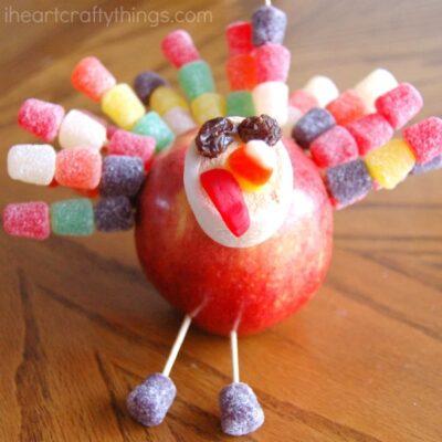 Thanksgiving Apple Turkey Craft